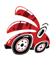 Cute monster car isolated on white vector image