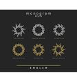 Set of elegant monogram design Monogram design vector image