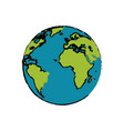 planet earth astronomy universe icon vector image