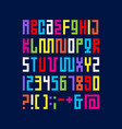 alphabet pixel art letters from strips modules vector image