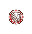 Angry Lion Head Roar Circle Retro vector image vector image