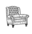 armchair sketch vector image