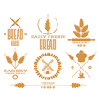 Bakery Bread Wheat Isolated labels on white vector image vector image