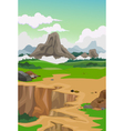 beauty mountain with landscape background vector image vector image