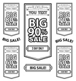 Big Sale Best offer badge line sticker label vector image vector image