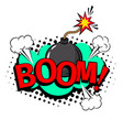 boom cartoon patch vector image vector image
