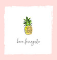 buon ferragosto italian summer holiday pineapple vector image vector image