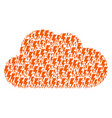cloud shape of electric strike icons vector image vector image