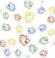 color house icon isolated seamless pattern on vector image vector image
