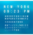 countdown timer and date flat calendar vector image vector image