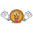 crazy apple pie isolated in the mascot vector image vector image