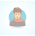Designer stylist icon Avatar and person vector image vector image
