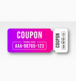 discount coupon and gift voucher voucher vector image vector image
