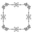 elegant victorian style frame vector image vector image