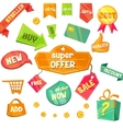 Emblem Sale Discount Super Offer vector image
