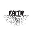 faith text and idea concept with leaves and vector image