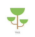 flat tree icon vector image vector image