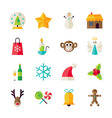 Flat Winter Christmas and Happy New Year Objects vector image vector image