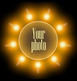 frame of incandescent lamps in the form of a vector image vector image