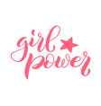 girl power lettering for t-shirts posters vector image