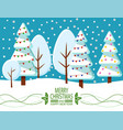 greeting card happy new year and christmas vector image vector image