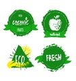 Han drawn farm fresh organic food label badge or vector image