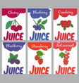 hand drawn natural juices brochures vector image