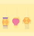 happy diwali festival decorative hanging lamps vector image vector image