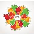 happy Rosh Hashanah Jewish holiday apples vector image vector image