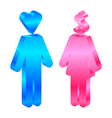 Interests - icon of man and woman vector image vector image