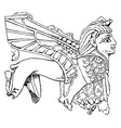 ivory carving sphinx in high relief or ninveh vector image vector image