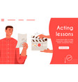 landing page acting lessons concept