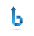 Letter B ribbon arrow logo icon design template vector image vector image