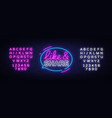 like share neon sign design template vector image vector image