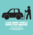 Lookunder Vehicle Inspection Mirrors vector image