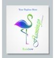 Luxury image logo Rainbow Flamingo Business vector image vector image