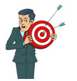 man with target vector image