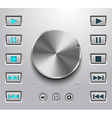 Metal volume button and setting volume buttons vector image vector image
