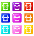 mobile gaming icons 9 set vector image vector image