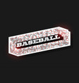 modern professional typography baseball sport vector image