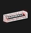 modern professional typography baseball sport vector image vector image