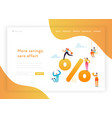 money savings landing page template economy vector image