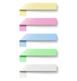 Oblong sticky notes isolated on white background