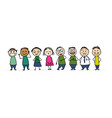people icons set sketch for your design vector image vector image