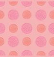 playful pink tones floral petal spot polka dot vector image vector image
