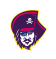 privateer pirate head mascot