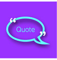 quote bubble on violet background colorful paper vector image vector image