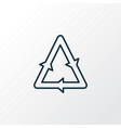 recycling icon line symbol premium quality vector image vector image