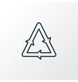 recycling icon line symbol premium quality vector image