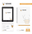 reindeer business logo tab app diary pvc employee vector image vector image